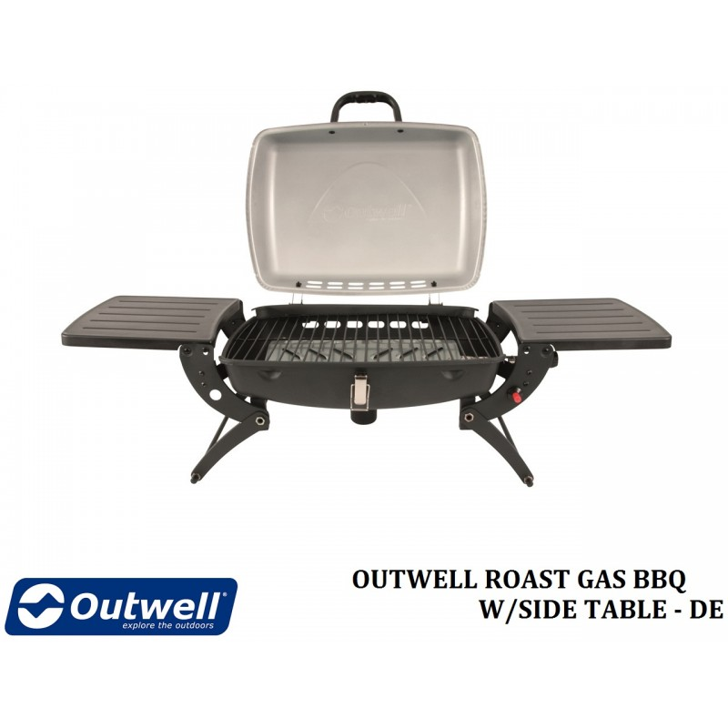 outwell roast gas bbq w side table de. Black Bedroom Furniture Sets. Home Design Ideas